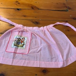 Vintage Gingham Apron - Pink Checkered Apron.